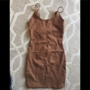 Stretchy dress brown !!new!!🍁